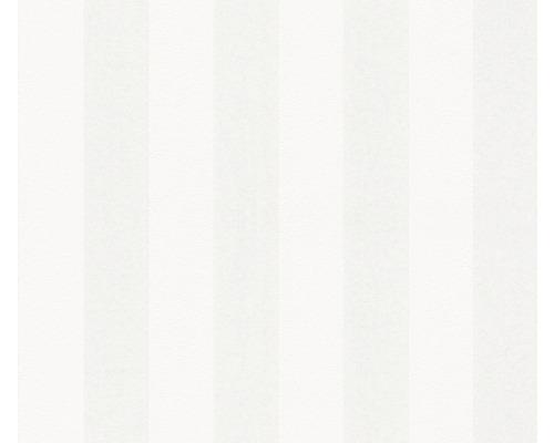 Vliestapete 5720 Patent Decor Green Label Streifen weiß