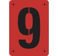 Malerschablone Ziffer 9 - 14,5 x 20,5 cm