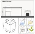Pflanzkübel Lechuza Cube Cottage 30 lichtgrau