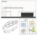 Blumenkasten Lechuza Trio Cottage 30 lichtgrau inkl. Erdbewässerungssystem und Wasserstandsanzeiger