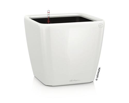 Pflanzkübel Lechuza Quadro LS 50 Komplettset H 47 cm weiß
