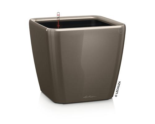 Pflanzkübel Lechuza Quadro LS 50 Komplettset H 47 cm taupe