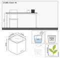Blumentopf Lechuza Cube Color 16x16 sandbraun