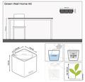 Blumentopf Lechuza Cube Color Green Wall H 14 cm Kunststoff weiß inkl. Halterung, Wasserstandsanzeiger, Erdbewässerungsystem und Pflanzeinsatz