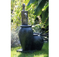 Gartenbrunnen mit Pumpe 47,5 x 38,5 x 84 cm Kunststein grau