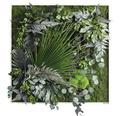 Pflanzenbild Dschungeldesign 80x80 cm