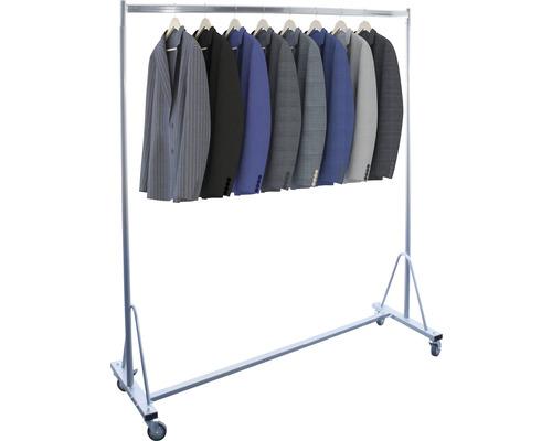 Profi-Kleiderständer sehr stabil silber Kleiderstange 150 cm Tragkraft 150 kg