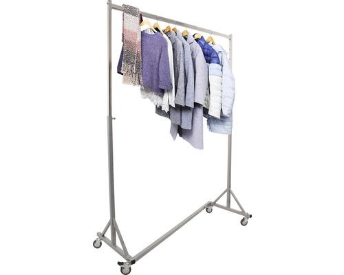 Profi-Kleiderständer sehr stabil grau höhenverstellbar Kleiderstange 133 cm Tragkraft 150 kg