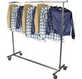 Reiserollständer Kleiderständer chrom höhenverstellbar Kleiderstange 150 cm ausziehbar Tragkraft 100 kg