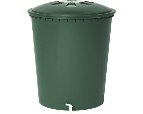 Regentonne rund mit Deckel, 210 Liter