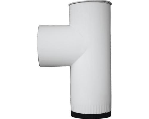 Kapselknie Ø120 mm Emailliert Weiss
