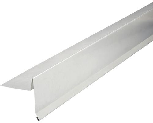 PRECIT Aluminium Ortgangblech ohne Wasserfalz 1000 x 95 x 105 mm