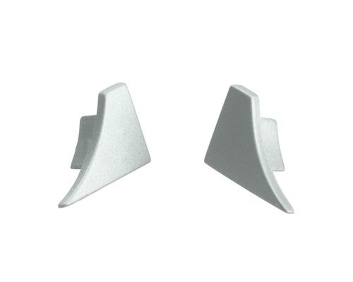 Eckstück zu T-Cover Dural silber 12 mm links+rechts