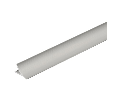 Anschlussprofil T-Cove Aluminium silber 250 cm