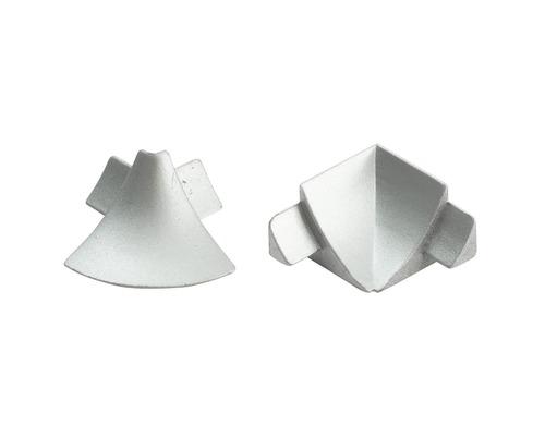 Eckstück zu T-Cover Dural silber 12 mm innen+außen
