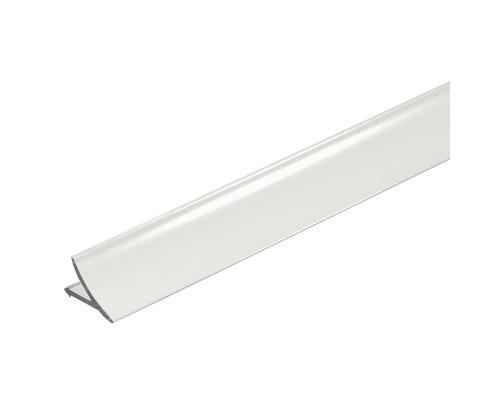 Anschlussprofil T-Cove Aluminium weiß 250 cm