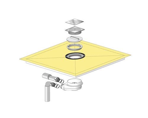 Duschelement Tilux Dural TL  50x50 cm