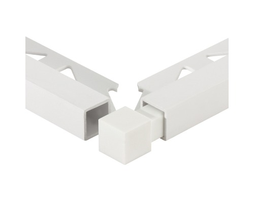 Eckstück Squareline PVC weiß 11mm