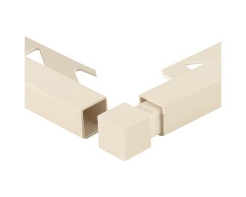 Eckstück Squareline PVC jasmin 11 mm