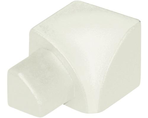 Eckstück Durondell innen aluminium weiß 12,5 mm