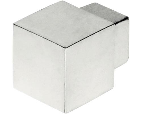 Eckstück Squareline aluminium chrom silber 11 mm