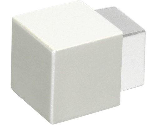 Eckstück Squareline aluminium silber 4,5 mm