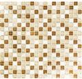Glasmosaik mit Naturstein XCM M820 30,5x32,2 cm beige/braun