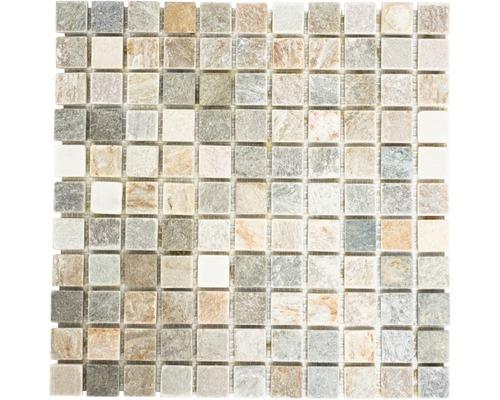 Natursteinmosaik XQM 10XS 30,5x30,5 cm beige/grau