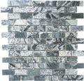 Natursteinmosaik XMI 117 30,5x32,5 cm silber/grau