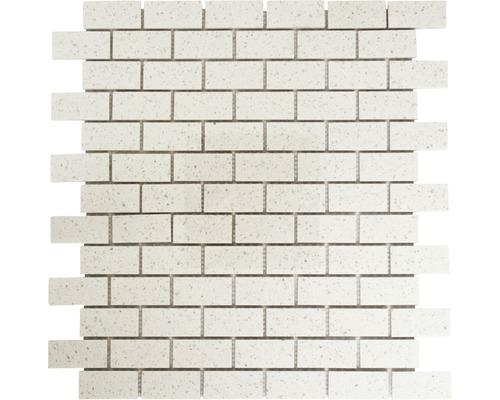 Kunstharzmosaik XCM ASMB1 32,5x30 cm weiß