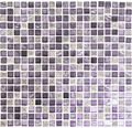 Glasmosaik mit Naturstein XCM M970 30,5x32,2 cm lila