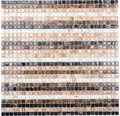 Glasmosaik XGM ST55 30,5x32,7 cm beige/gold/braun