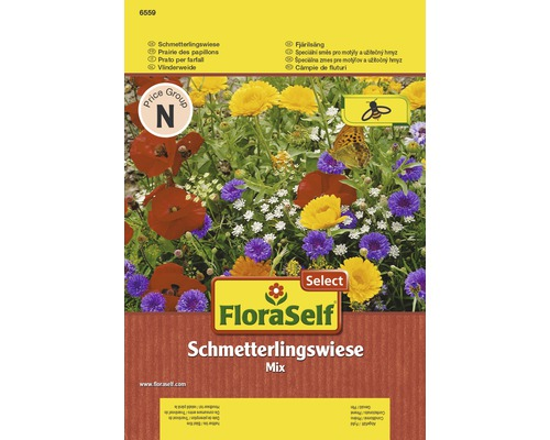 Blumenwiesensamen FloraSelf Select 'Schmetterlingswiese' 6,5 m²