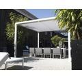 Pavillon GroJa Cube freistehend mit Funksteuerung 300 x 300 cm weiß