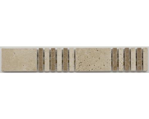 Natursteinbordüre Travertine weiß 30,5x4,8 cm