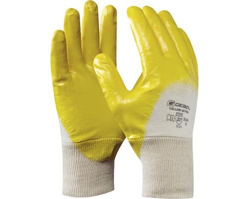 GEBOL Arbeitshandschuhe Nitril gelb/weiß Gr. 10