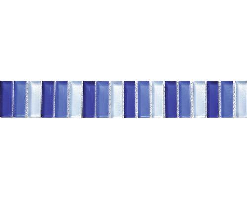 Glasbordüre Stäbchen blau mix