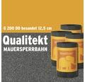 Bitumen Mauersperrbahn Qualitekt Besandet G200 DD Rolle 10m Breite 12,5cm