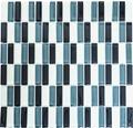 Glasmosaik XCM S828 32,2x31 cm grau/weiß/schwarz