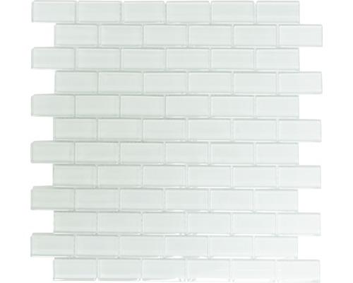 Glasmosaik XCM B800 32,2x31 cm weiß