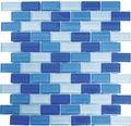 Glasmosaik XCM B822 32,2x31 cm blau