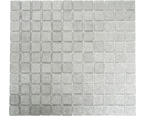 Glasmosaik CM 4SB6 silber 30,2x32,7 cm