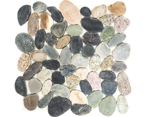 Natursteinmosaik XKS 403 ca. 31,5x31,5 cm braun/grau/grün