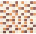 Glasmosaik XCM 8560 30,2x32,7 cm braun/beige