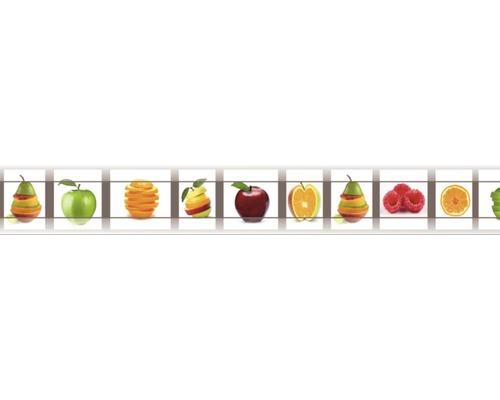 Bordüre selbstklebend Digital Obst weiß 8,8 m x 80 cm