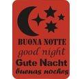 Dekorschablone Gute Nacht XL 43 x 56 cm