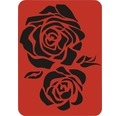 Dekorschablone Rose XL