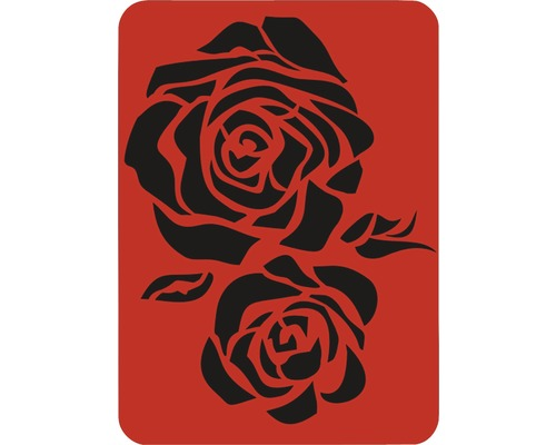 Dekorschablone Rose XL 43 x 56 cm
