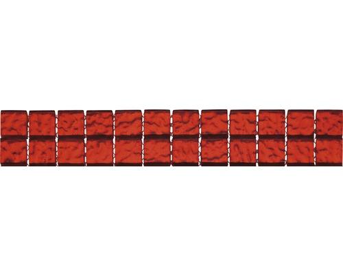 Glasbordüre rot 4,8x29,8 cm