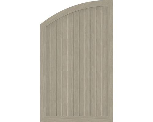 Abschlusselement BasicLine Typ Q links 90 x 150/120 cm, sheffield oak